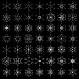Retro snowflake designs Royalty Free Stock Photo