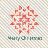 Retro snowflake för jul Royaltyfri Bild