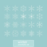 Retro snowflake set Royalty Free Stock Image