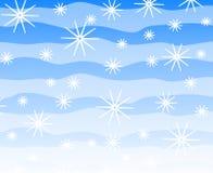 Retro Snowflakes Background Stock Photo