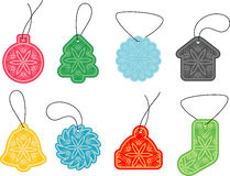 Retro snowflakes, tags Stock Images
