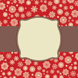 Retro Snowflakes template card. EPS 8 Royalty Free Stock Photo