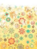 Retro Snowflakeskortbakgrund. EPS 8 Fotografering för Bildbyråer