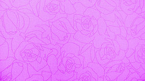 Retro snöra åt blom- sömlös Rose Pattern Pink Fabric Background tappningstil Arkivfoto
