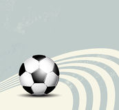 Retro soccer ball background Stock Photography