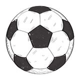 Retro soccer ball Stock Photography