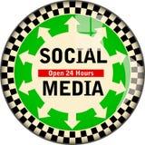 Retro social media, social networks sign,vector illustration,fictional artwork. Retro social media, social networks sign,vector illustration, fictional artwork stock illustration