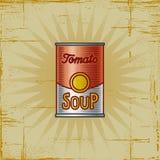 Retro Soep van de Tomaat kan Royalty-vrije Stock Fotografie