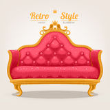 Retro sofa Stock Image