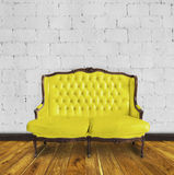 Retro sofa in colorful room Stock Photography