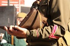 retro soldato del taccuino Fotografia Stock