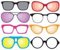 retro solglasögon stock illustrationer