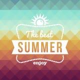 Retro- Sommerzeitfeiertagsplakat Lizenzfreie Stockfotos