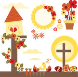 Retro sorgente Pasqua illustrazione vettoriale