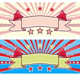 Retro Sound Banner. Colour Illustration Royalty Free Stock Photos