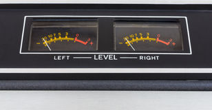 Retro sound level meter. Closeup stock image