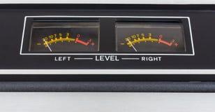 Retro sound level meter Stock Image
