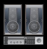 Retro sound system. Royalty Free Stock Photography