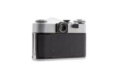 Retro soviet film camera isolated on white background. Soviet reflex camera. Back side view Stock Image