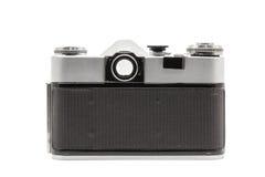 Retro soviet film camera isolated on white background. Soviet reflex camera. Back side view Royalty Free Stock Photos