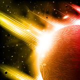 Retro space background Royalty Free Stock Image