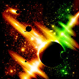 Retro space background Stock Images