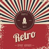 Retro space rocket template theme Royalty Free Stock Photos