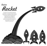Retro space rockets Stock Photo