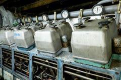 Retro spaceship engine diesel Stock Images