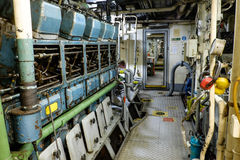 Retro spaceship engine diesel Stock Photography