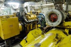 Retro spaceship engine diesel Royalty Free Stock Image