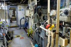 Retro spaceship engine diesel Stock Photo