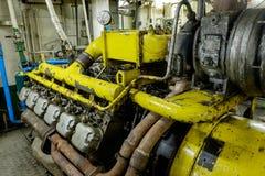 Retro spaceship engine diesel Royalty Free Stock Images