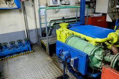 Retro spaceship engine diesel Stock Photos