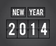 Retro- Spalteklappenbrett 2014 des neuen Jahres Lizenzfreie Stockfotos