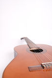 Retro spanish guitar. On white background Stock Image