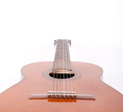 Retro spanish guitar. On white background Stock Photos