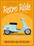 Retro sparkcykelaffischdesign Royaltyfria Bilder