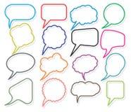 Retro speak bubbles Stock Images