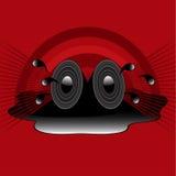 Retro speakers Royalty Free Stock Photos