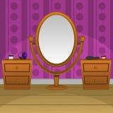 Retro specchio Immagine Stock
