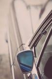 Retro specchio di automobile Immagine Stock