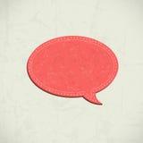 Retro speech bubble. 3D Retro speech bubble vector illustration royalty free illustration