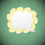 Retro speech bubble on green background Royalty Free Stock Images