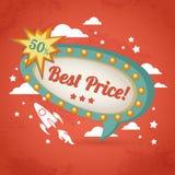 Retro speech bubble Royalty Free Stock Image