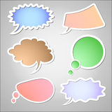 Retro speech bubbles Stock Images