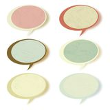 Retro speech bubbles set with copy space. EPS 8 Royalty Free Stock Images