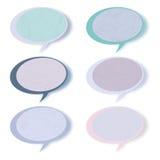 Retro speech bubbles set with copy space. EPS 8 Stock Image