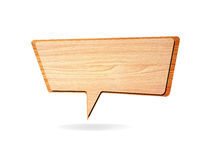 Retro speech bubbles from splat Stock Photo