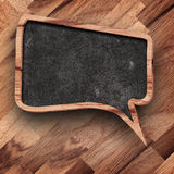 Retro speech bubbles from wood on wood background Stock Image